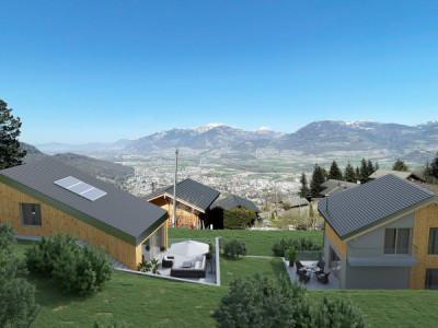 Joli duo de villas individuelles à Choëx - sur plans ! image 1