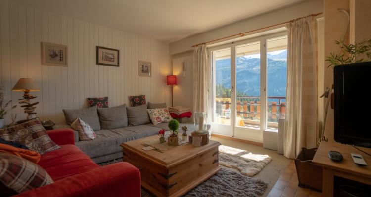 Gryon Immo vous propose un spacieux 4,5 pièces en duplex, proche de la nature, magnifique vue image 1