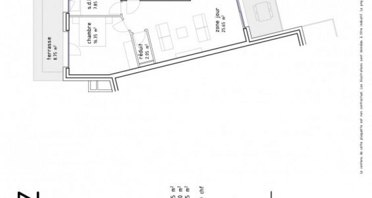 FOTI IMMO - Grand 2,5 pièces traversant avec balcons de 23 m2. image 6
