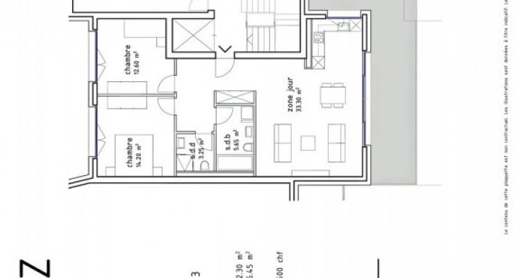 FOTI IMMO - Bel attique de 3,5 pièces avec terrasse de 75 m2. image 6