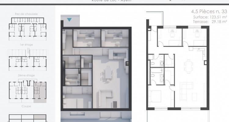 Superbe appartement neuf de 4,5 pièces livrable en Automne 2021 image 2