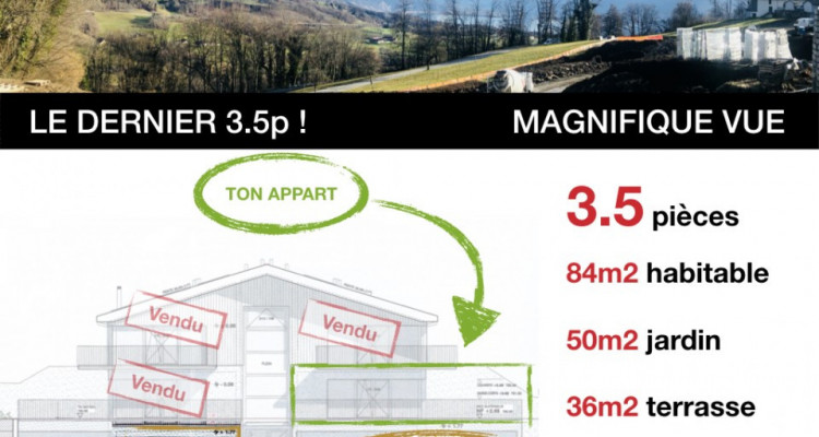LE DERNIER 3.5p - PRET AOUT 2020 - MAGNIFIQUE VUE - CALME image 1