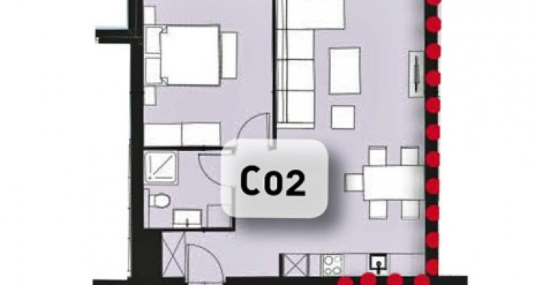 FOTI IMMO - Appartement neuf de 2,5 pièces proche du Rhône. image 12