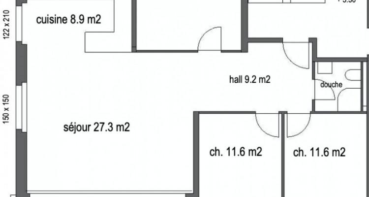 Superbe appartement sur plan de 4,5 pièces avec terrasse de 28 m2 image 5