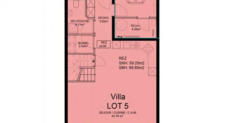 FOTI IMMO - Duplex de 5,5 pièces au rez avec jardin. image 5