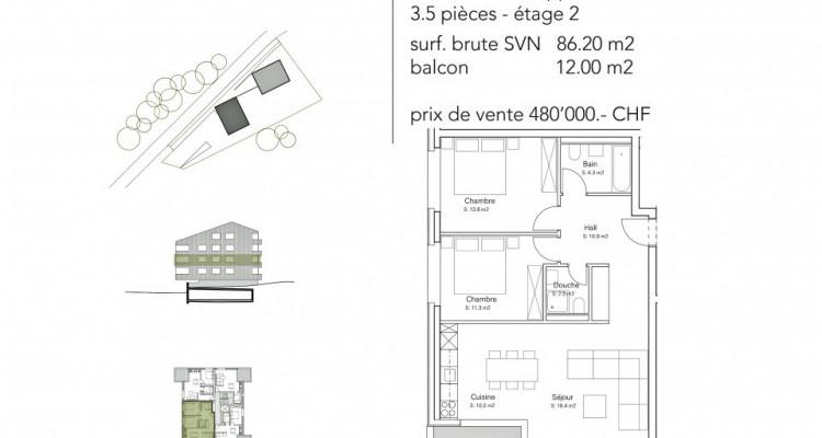FOTI IMMO - Appartement de 3,5 pièces avec balcon. image 5