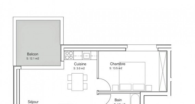 FOTI IMMO - Appartement de 2,5 pièces avec balcon. image 6