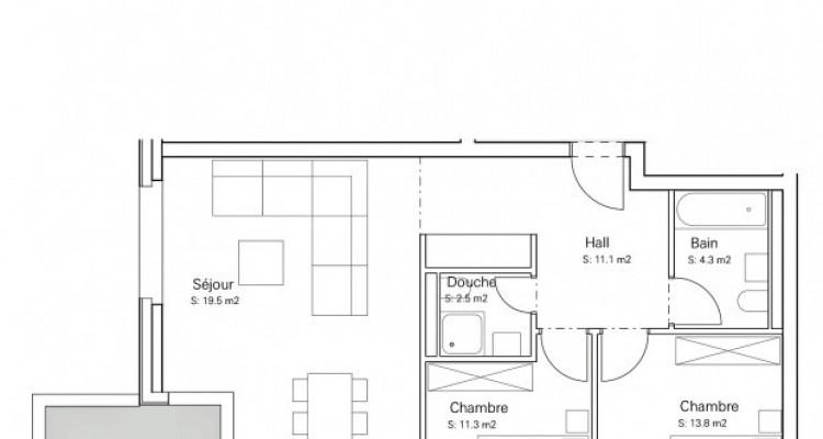 FOTI IMMO - Appartement en attique de 3,5 pièces avec balcon. image 6