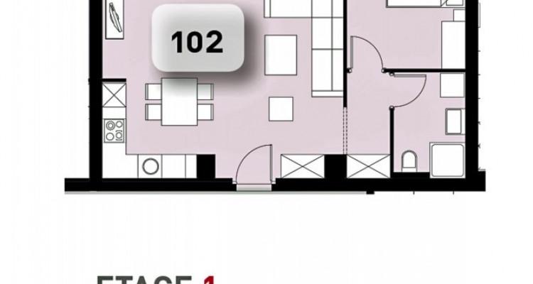 LOCATION VENTE - Appartement de 2,5 pièces avec balcon. image 5