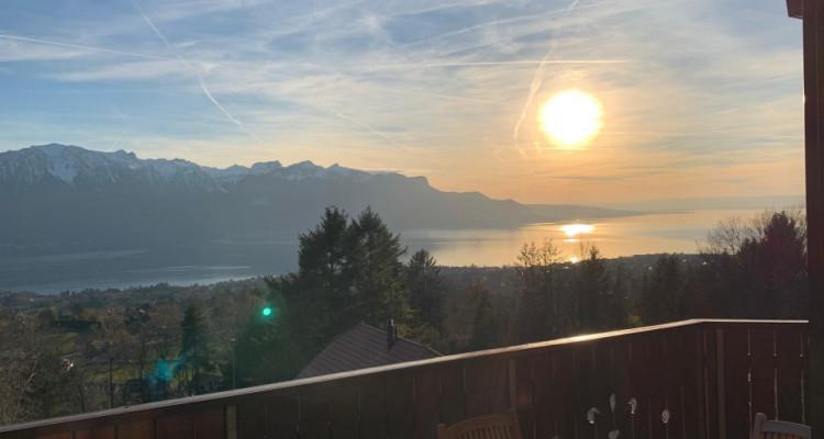 Magnifique 4,5p/ Vue imprenable sur le lac - Terrasse - Parking inclus image 3