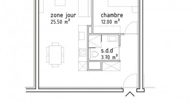 FOTI IMMO - Appartement de 2,5 pièces avec terrasse. image 6