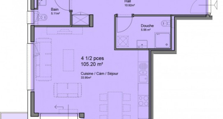FOTI IMMO - Bel appartement de 4,5 pièces avec balcon. image 3
