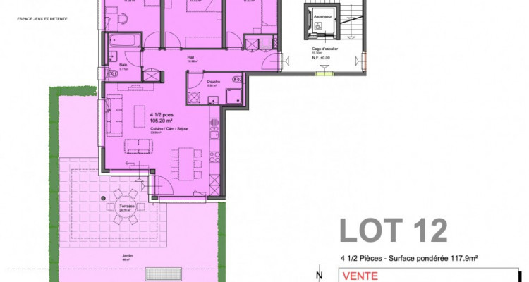 C-Service vous propose un appartement à vendre 4.5 pièces à Vouvry image 6