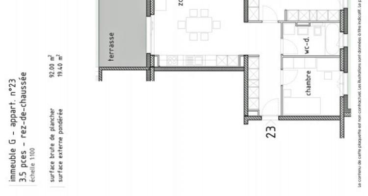 LOCATION VENTE - Appartement neuf de 3 pièces avec terrasse/jardin. image 5