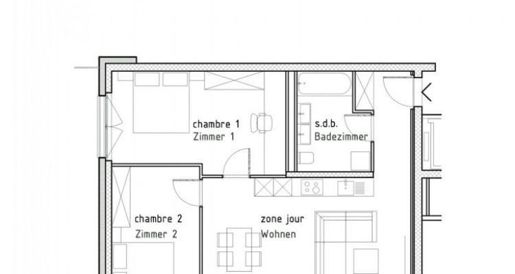 FOTI IMMO - Appartement de 3,5 pièces avec balcon. image 4