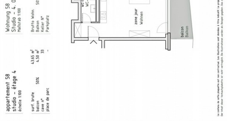 FOTI IMMO - Studio en attique avec balcon. image 3