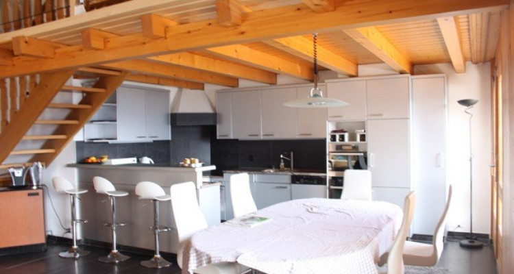 VISITE 3D DISPO // Splendide attique avec très belle vue sur les Alpes image 1