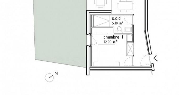 FOTI IMMO - Bel appartement de 2,5 pièces avec loggia et jardin. image 6