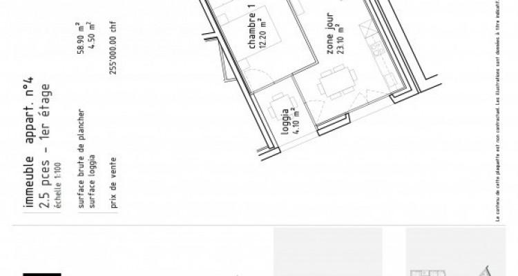 FOTI IMMO - Bel appartement de 2,5 pièces avec loggia. image 5