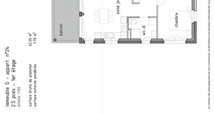 LOCATION VENTE - Bel appartement neuf de 2,5 pièces avec balcon. image 5