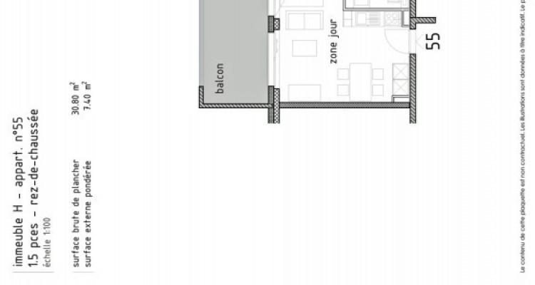 LOCATION VENTE - Joli studio neuf avec balcon. image 5