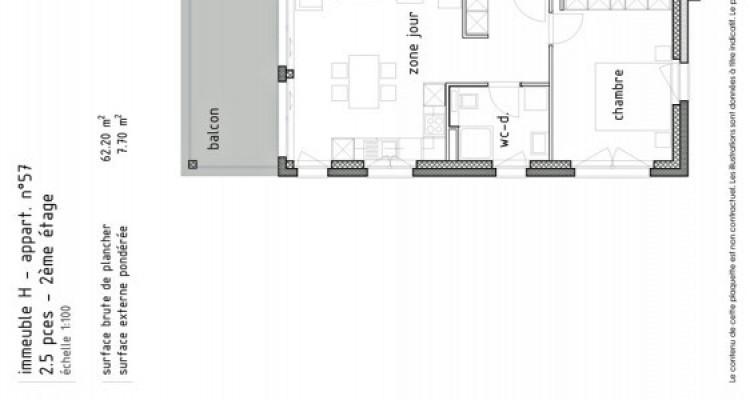 FOTI IMMO - Bel appartement neuf de 2,5 pièces avec balcon. image 5