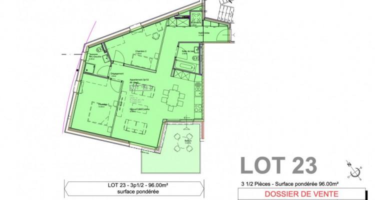 C-Service vous propose un appartement en attique duplex de 4,5 pièces image 10