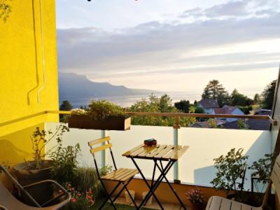 Magnifique duplex en attique 4,5 p/  terrasse / vue lac et montagnes  image 1
