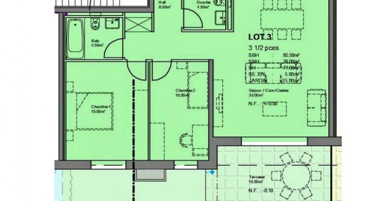 FOTI IMMO - Bel appartement de 3,5 pièces avec terrasse/jardin. image 5