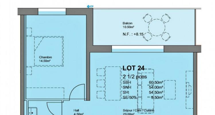 FOTI IMMO - Bel appartement en attique de 2,5 pièces avec balcon. image 3