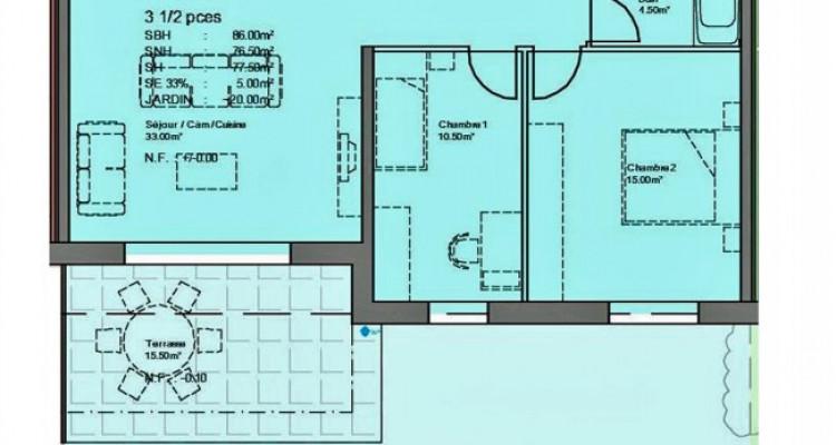 FOTI IMMO - Bel appartement de 3,5 pièces avec jardin. image 5