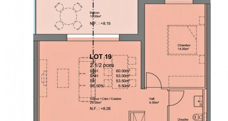 FOTI IMMO - Bel appartement de 2,5 pièces en attique avec balcon. image 3