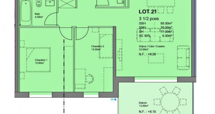 FOTI IMMO - Bel attique de 3,5 pièces avec balcon. image 3