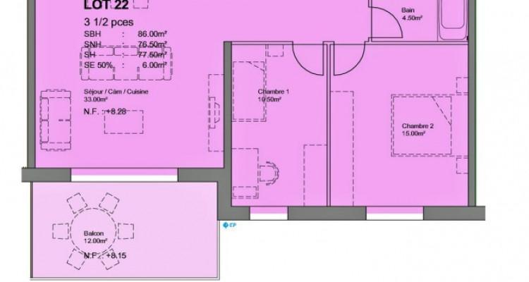 FOTI IMMO - Attique de 3,5 pièces avec balcon. image 3