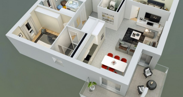 FOTI IMMO - Appartement en attique de 4,5 pièces avec balcon. image 5