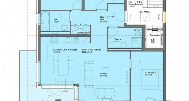 FOTI IMMO - Appartement en attique de 4,5 pièces avec balcon. image 7