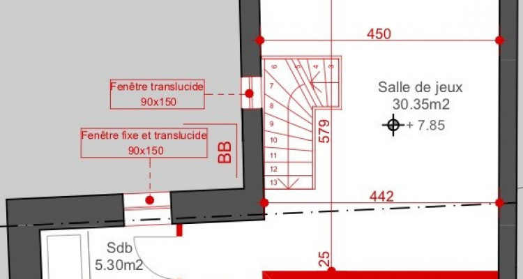 Plan-les-Ouates: duplex 87m2 dans petite PPE image 2