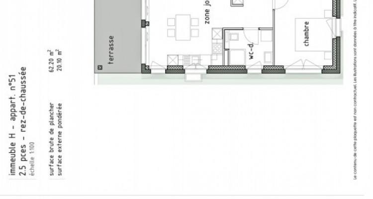 LOCATION VENTE - Appartement neuf de 2 pièces avec terrasse. image 5