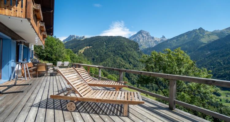 Gryon Immo vous propose un joli chalet rénové avec grand terrain et une magnifique vue  image 4