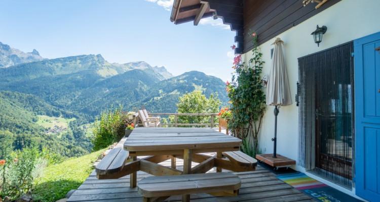 Gryon Immo vous propose un joli chalet rénové avec grand terrain et une magnifique vue  image 5
