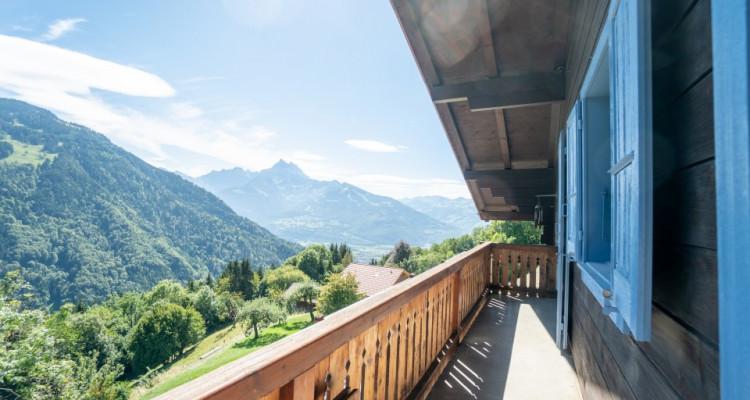 Gryon Immo vous propose un joli chalet rénové avec grand terrain et une magnifique vue  image 16