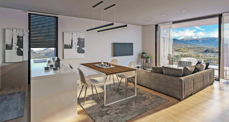 FOTI IMMO - Appartement de 3,5 pièces avec terrasses. image 3