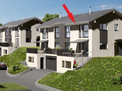 Belle villa jumelle neuve, plein sud, avec garage et place de parc image 1