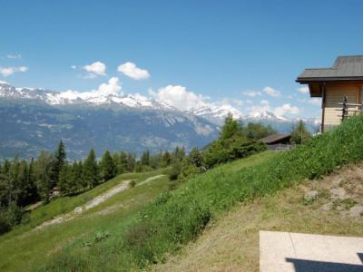 Au lieu-dit Les Mayens des Tsabloz, au sud-ouest de la station de Vercorin, situation calme, proche de la nature, bénéficiant dune vue imprenable sur la vallée du Rhône et les Alpes Bernoises image 1