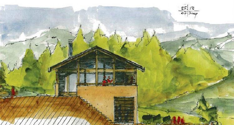 Situation :  Chalet individuel situé au lieu-dit Roches-Hombes avec ensoleillement maximal, grande tranquilité et magnifique vue sur la Vallée du Rhône, le Val dAnniviers et le Crêt image 5