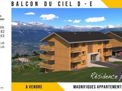 Promotion de qualité avec vue à 180° sur les Alpes Bernoises, la Vallée du Rhône et le village de Nax. Résidences principales. image 1