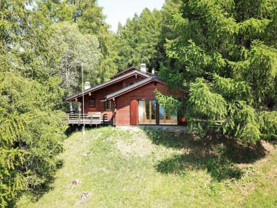 Chalet rénové dans une situation calme en pleine forêt vue imprenable ouest sur la vallée du Rhône image 1