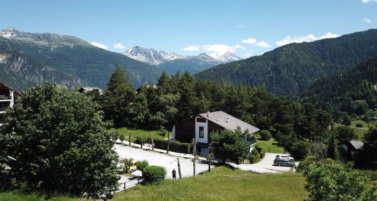 Parcelle (résidence principale) plein sud avec vue imprenable sur le val dAnniviers, Crêt du Midi et vallée du Rhône image 2