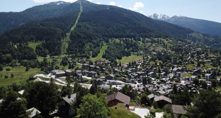 Parcelle (résidence principale) plein sud avec vue imprenable sur le val dAnniviers, Crêt du Midi et vallée du Rhône image 4