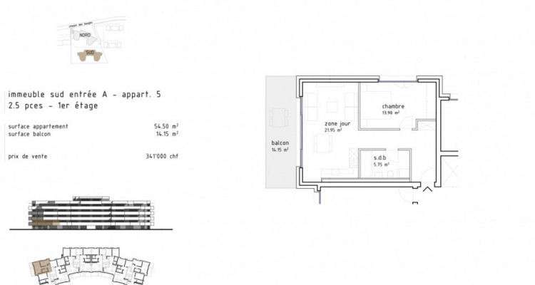 Charmant 2,5 pièces avec grand balcon à Aigle  / D05 SUD image 5
